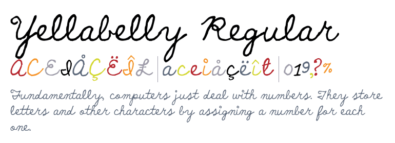 Yellabelly [1 Font]   The Fonts Master