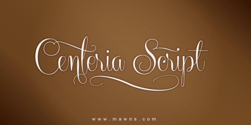 Centeria Script [12 Fonts] | The Fonts Master