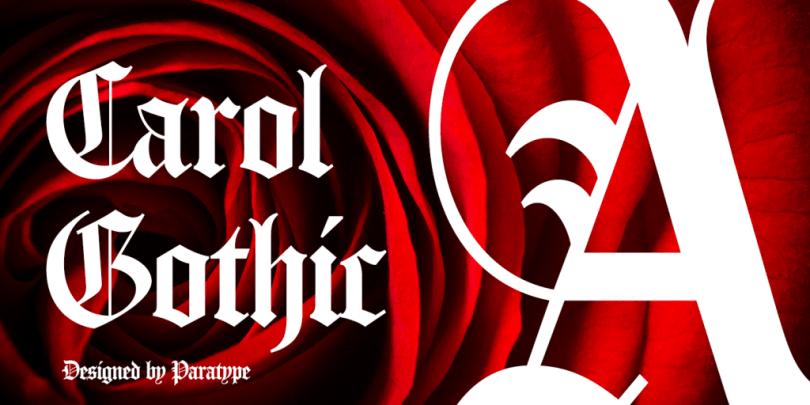 Carol Gothic [1 Font]   The Fonts Master