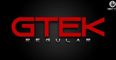 Gtek Regular [1 Font] | The Fonts Master