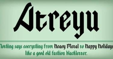 Atreyu [1 Font] | The Fonts Master