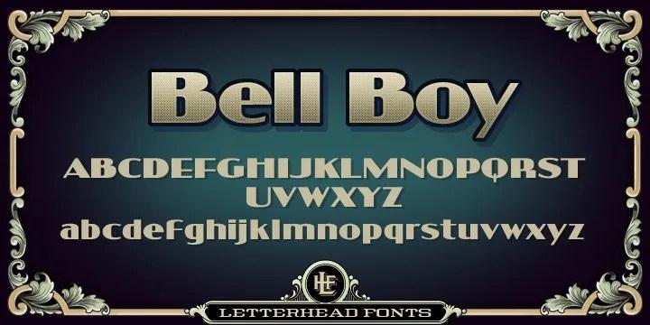 Lhf Bell Boy [1 Font]   The Fonts Master