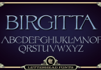 Lhf Birgitta [1 Font] | The Fonts Master