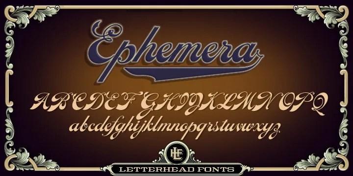 Lhf Ephemera [3 Fonts] | The Fonts Master