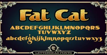 Lhf Fat Cat [1 Font] | The Fonts Master