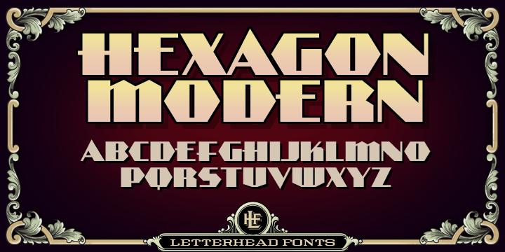 Lhf Hexagon Modern [3 Fonts]   The Fonts Master