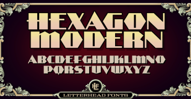 LHF Hexagon Modern [3 Fonts] - The Fonts Master
