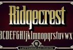Lhf Ridgecrest [1 Font] | The Fonts Master