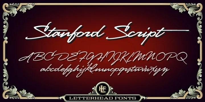 Lhf Stanford Script [1 Font]   The Fonts Master