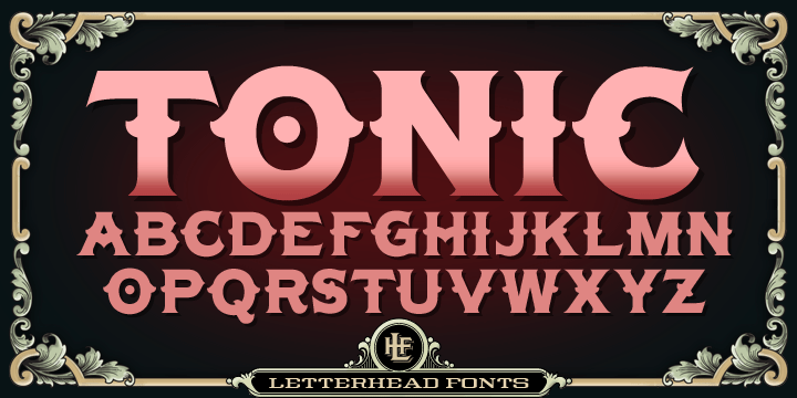 Lhf Tonic [2 Fonts] | The Fonts Master
