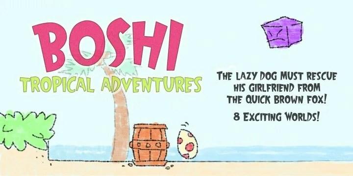Boshi [1 Font]   The Fonts Master