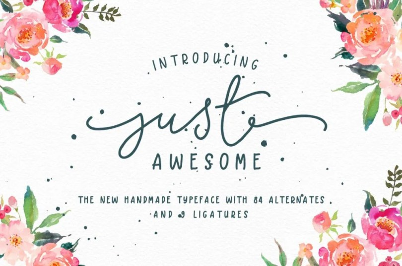 Just Awesome Typeface + Bonus [2 Fonts] | The Fonts Master