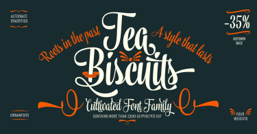 Tea Biscuit [4 Fonts] | The Fonts Master