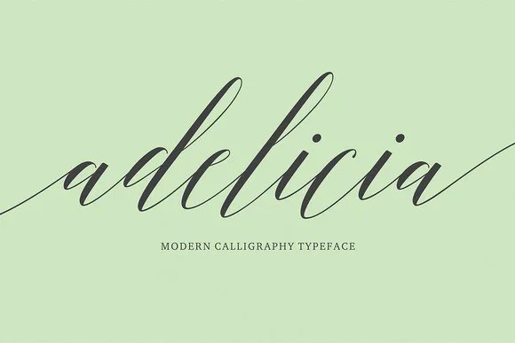 Adelicia Script [1 Font]   The Fonts Master