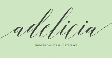 Adelicia Script [1 Font] | The Fonts Master