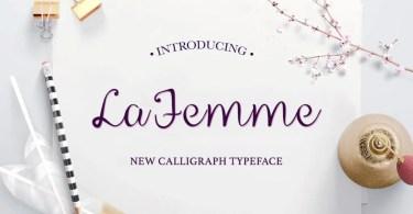 La Femme Script [1 Font + Extras]
