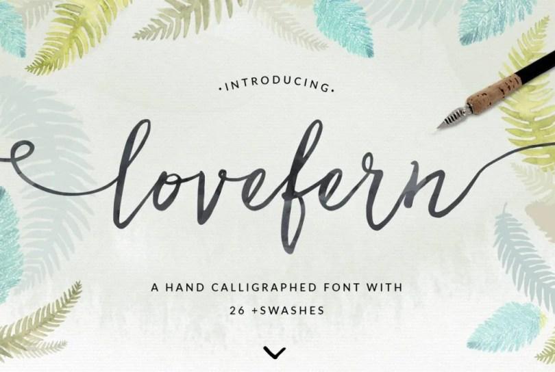Lovefern Font + Swashes [4 Fonts]   The Fonts Master