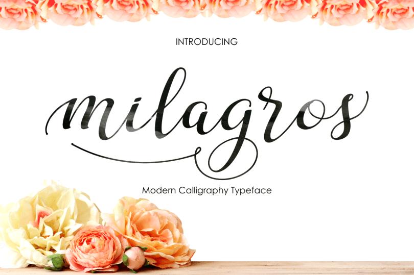 Milagros Script [1 Font]   The Fonts Master