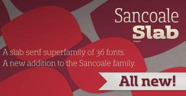 Sancoale Slab Super Family [36 Fonts]