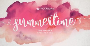 Summertime [4 Fonts] | The Fonts Master