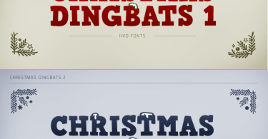 Christmas Dingbats 1 &Amp; 2 [2 Fonts] | The Fonts Master