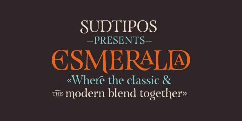 Esmeralda Pro [1 Font]   The Fonts Master