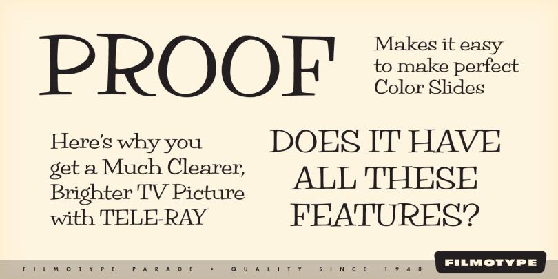 Filmotype Parade [6 Fonts]   The Fonts Master