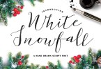 White Snowfall [1 Font] | The Fonts Master
