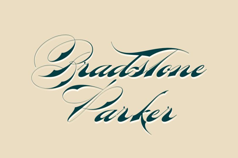 Bradstone-Parker Script [1 Font]   The Fonts Master