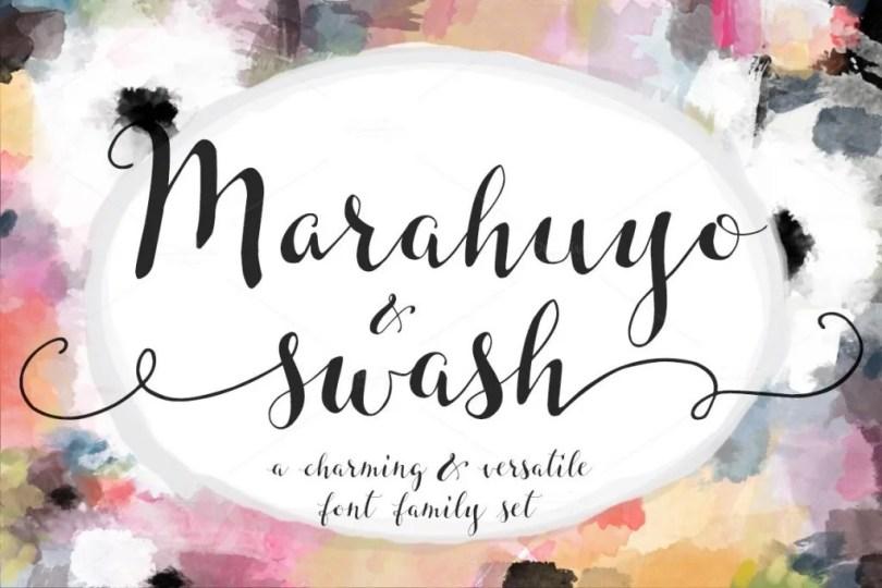 Marahuyo Font Family Set [2 Fonts]   The Fonts Master