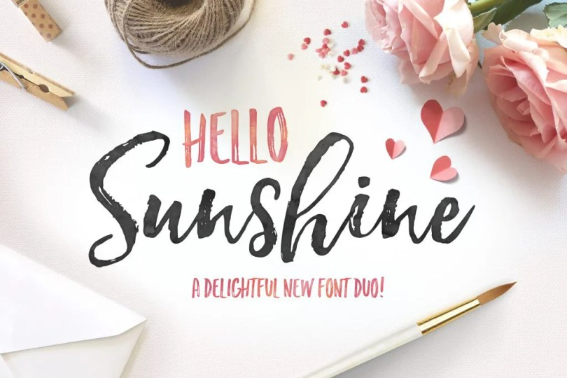 Hello Sunshine Font Duo [4 Fonts]   The Fonts Master