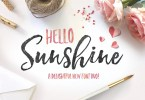 Hello Sunshine Font Duo [4 Fonts] | The Fonts Master