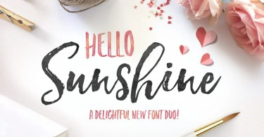 Hello Sunshine Font Duo [4 Fonts] - The Fonts Master