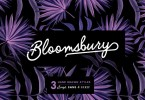 Bloomsbury - Script, Sans &Amp; Serif [3 Fonts] | The Fonts Master