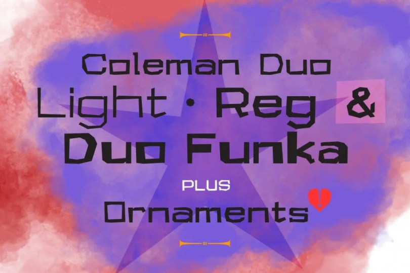 Coleman Duo [4 Fonts] | The Fonts Master