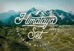 Himalaya Set Type [2 Fonts] | The Fonts Master
