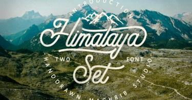 Himalaya Set Type [2 Fonts]