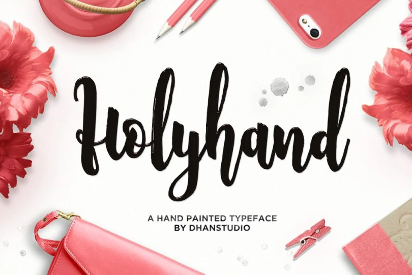Holyhand Script [1 Font]   The Fonts Master