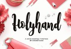 Holyhand Script [1 Font] | The Fonts Master