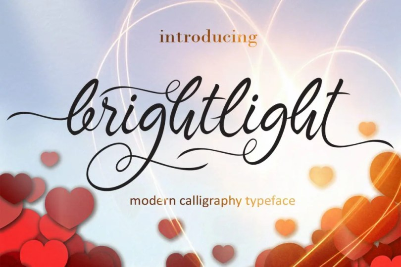 Brightlight [1 Font]   The Fonts Master