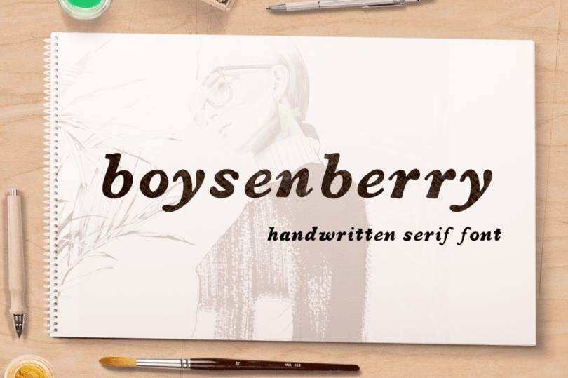 Boysenberry [1 Font] | The Fonts Master