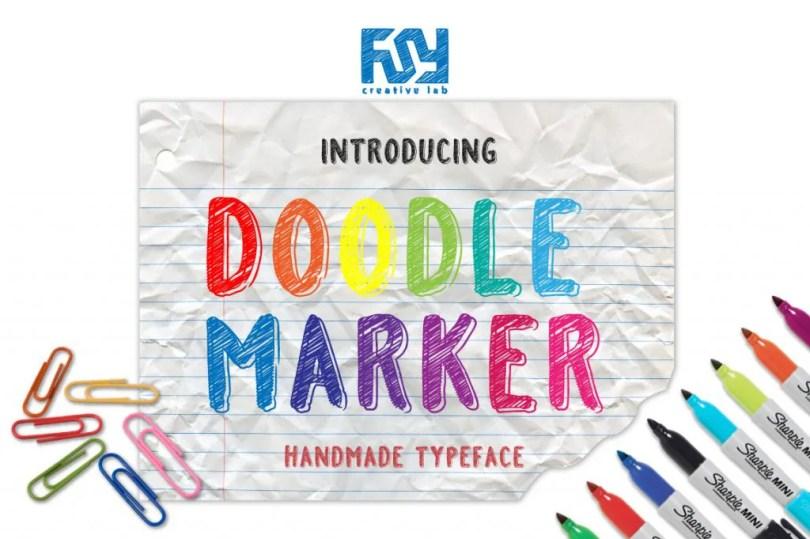 Doodle Marker [1 Font]   The Fonts Master