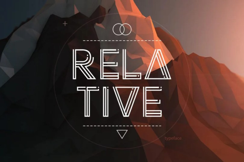 Relative Typeface [1 Font] | The Fonts Master
