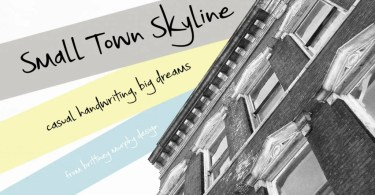 Small Town Skyline [1 Font]