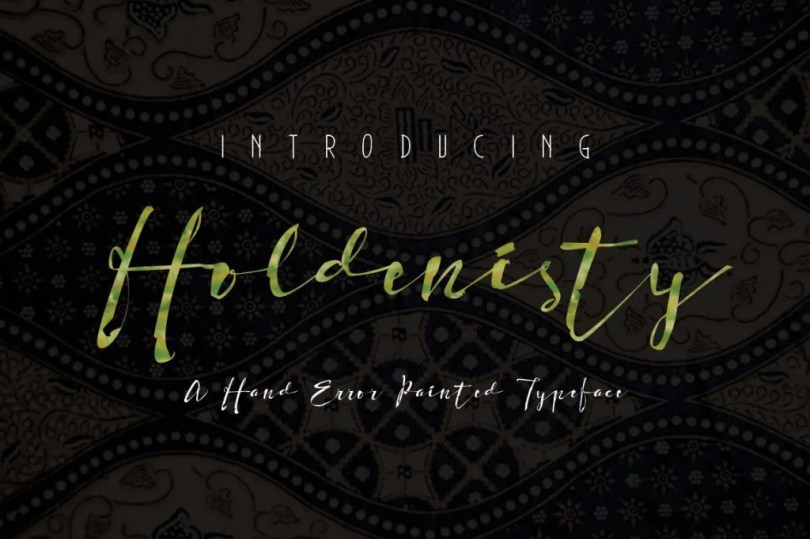 Holdenisty [1 Font]   The Fonts Master
