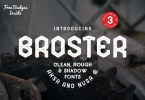 Broster [3 Fonts + Extras] | The Fonts Master