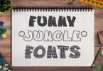 3 Funny Fonts: Jungle [3 Fonts + Extras] | The Fonts Master