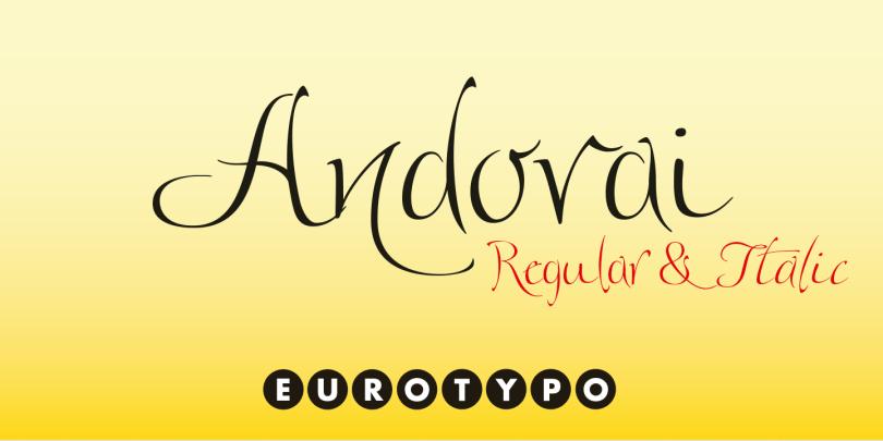 Andovai [1 Font]   The Fonts Master