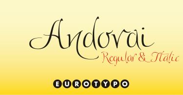 Andovai [1 Font] | The Fonts Master