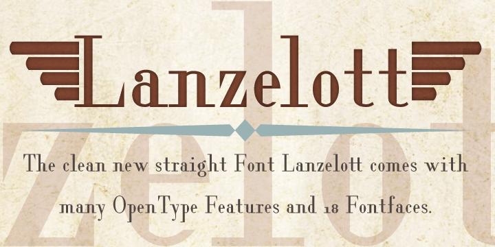 Lanzelott [18 Fonts]   The Fonts Master